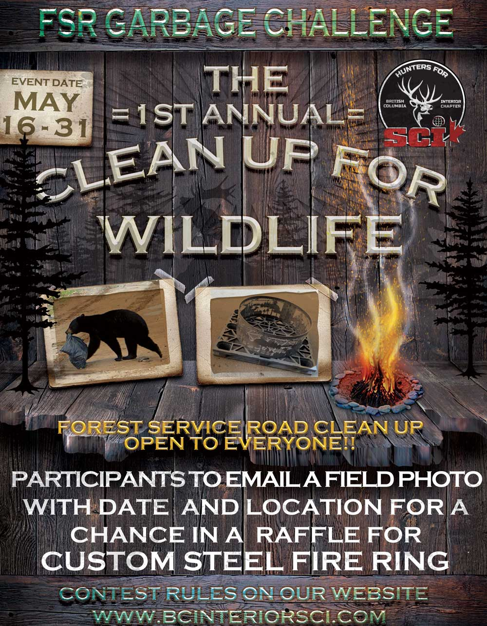 1ST ANNUAL CLEAN UP FOR WILDLIFE CHALLENGE